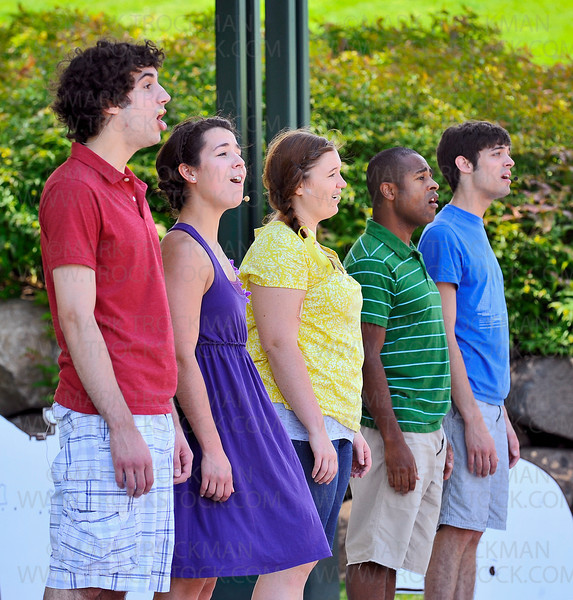 The ensemble cast from Minnetonka Theater's Music in the Park production of Free to Be You and Me, played for an audience of 245 Thursday, June 17, at the Minnetonka Civic Center Campus. Their four performances over three days attracted 1,200 people to the outdoor venue.