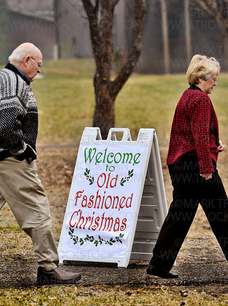Visitors to Plymouth's 'Old Fashioned Christmas' came at a steady rate half an hour before the 4:00 pm start outside the Historical Building at Plymouth Creek Park, Sunday, Dec. 2, at Plymouth Creek Park.