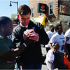Charlette Richardson of Dorchester shares a photo  with Mayor Walsh.