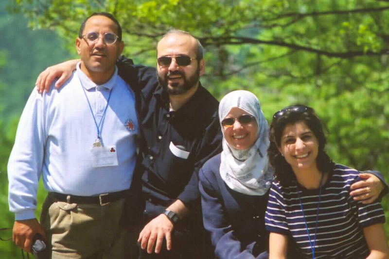 Middle Eastern peacebuilders: a Protestant Christian pastor from Egypt, an Orthodox priest from Syria, a Muslim secondary school principal from Palestine, and a Christian lawyer from Lebanon. Shalom, Salaam, Peace.