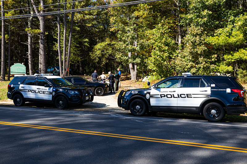 Pelham Police Department and Salem Police Department respond to Frederic Cutter Merriam Conservation Area (September 30, 2020)