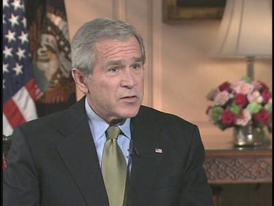 001-Bush interview