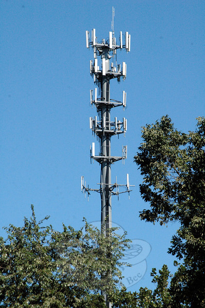 In late 1999, Bell Atlantic NYNEX Mobile built this cellular telecommunications tower near Exit 11 of Interstate 84 in Sandy Hook. The tower replaced a previous tower that had been there since 1988. Bell Atlantic built the monopole tower to increase the number of telecommunications firms that could position their antennas near the heavily traveled highway.	(Gorosko photo)