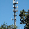 In late 1999, Bell Atlantic NYNEX Mobile built this cellular telecommunications tower near Exit 11 of Interstate 84 in Sandy Hook. The tower replaced a previous tower that had been there since 1988. Bell Atlantic built the monopole tower to increase the number of telecommunications firms that could position their antennas near the heavily traveled highway.(Gorosko photo)
