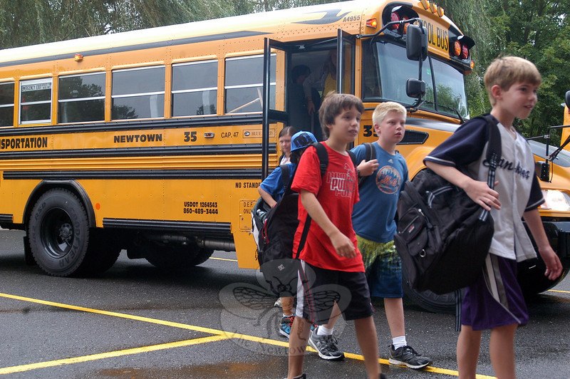 Reed Intermediate School students arrived for the first day of the 2012-13 school year on Tuesday, August 28. (Hallabeck photo)