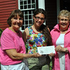 VNA of Newtown Scholarship Committee member Carole Polcyn, left, and committee Chairman Sally Schwerdtle, right, are pleased to present 2010 NHS graduate Katie Pessin with a $2,000 VNA Scholarship, as she continues her studies in the field of nursing.(Crevier photo)