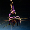 The Toprasta Troupe, from Columbia, perform on the high wire in the 125th edition of the Cole Bros. Circus of the Stars during the Friday afternoon show at the Pitt County Fair Grounds.