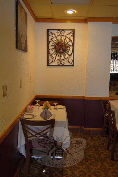 Kolam, which has been serving the cuisine of India for the past six years at 316 Main Street South in Newtown, is featured this week in the Bee's Dining Guide page.  (Hallabeck photos)