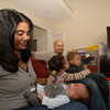 Nicolle Maddox holds her son Spencer, who won the title of Newtown's First Baby 2010.  (Bobowick photo)