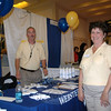 Representatives from the Newtown branch of Webster Bank greeted visitors at the 2009 Destination Newtown business fair which was held at the Newtown Congregational Church.  (Voket photo)