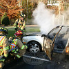The owner of a 2004 Volkswagen Golf had a miserable start to his weekend last Saturday. After leaving his car in the parking lot at 3 Glen Road for the Friday overnight, the owner returned for his vehicle around 7:30 Saturday morning. He told fire personnel from Sandy Hook Fire & Rescue that he turned the car on to warm it up, went to get some coffee, heard a pop, and when he returned to his vehicle it was on fire. Sandy Hook responded to the scene within minutes of the call, but the vehicle was engulfed in flames and could not be saved. No one was injured in the incident, and the fire company was back in service shortly after 8 am.  (Hicks photo)