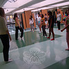Newtown Middle School teacher Oona Mulligan oversaw Dance Team tryouts in the school's cafeteria on Friday, October 30. Eighteen students auditioned for the team this year, and those who made the team found out a week later. Team captains Britt Pearson and Ellie Ress along with co-captains Alyssa Fulton and Emily DeGirolamo helped lead the team hopefuls in a run through of a dance routine.  (Hallabeck photo)