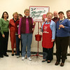 The Newtown Service Unit of the Salvation Army held a board meeting on November 17 that in part covered the upcoming season of bell ringing. From left are Marjorie Vrabel, Debbie Stakel, Barbara Bigham, Nita Hill, Bell Ringing Co-Chairs Sylvia Poulin and Marie Sturdevant, Alan Martin, Betsy Gaier, and Marty Gaier. Openings are available for residents who would like to spend at least one hour volunteering their time with a Salvation Army kettle this holiday season.  (Hicks photo)