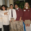 Eighth grade students from St Rose of Lima greeted guests on Saturday, November 14, attending a private celebration for the school being named a United States Department of Education's 2009 Blue Ribbon School of Excellence.  (Hallabeck photo)