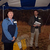 Ruth Parkins of Iroquois Gas offered her praise for community-based projects during a reception hosted by Planning & Land Use on Monday. Her company provided Newtown with a $15,000 grant for open space signs, tools, and more. Beside her is Deputy Director of  Planning & Land Use Rob Sibley.  (Bobowick photo)