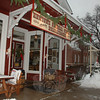 No one was having their morning coffee at the tables in front of the general store Wednesday morning.