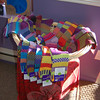 Solmates, colorful purposefully mismatched socks from Vermont, fill a basket just inside the doorway of Life's A Peach.  (Crevier photo)