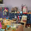 Shoppers can find gifts for themselves or others, ranging from tie-dyed T-shirts to hand-crafted vegetable oil soaps or decorative cheese boards, at Life's A Peach.  (Crevier photo)