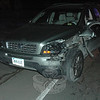 Police report a two-vehicle accident about 6:30 pm on January 13 near 19 Main Street. Police said motorist Scott Perruzzelli, 44, of Southbury, who was driving a 1994 Nissan Sentra sedan northward on Main Street, stopped in preparing to make a left turn and was struck from behind by northbound motorist Emily Howard, 29, of 53 Schoolhouse Hill Road, who was driving a 2007 Volvo XC-90 station wagon. Newtown Volunteer Ambulance Corps members transported Perruzzelli to Danbury Hospital to be checked for pain, police said. The collision caused travel delays on Main Street. The accident is under investigation.  (Gorosko photo)