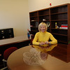 Superintendent of Schools Janet Robinson was busy in her new office on Friday, October 30, after the Board of Education's offices were moved from Trades Lane to 3 Primrose Street in Newtown Municipal Center.  (Hallabeck photo)