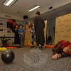 """Booth Library's Mask & Wig Players, the library's young adult theater group, performed """"Feaky Phil's Costume Shop"""" on October 18.  (Bobowick photo)"""