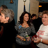 Many of the candidates for this season's municipal elections attended a pre-debate meet and greet Monday night at Edmond Town Hall including Debbie Aurelia, center, the Republican candidate for Town Clerk.  (Bobowick photo)