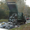 Main Street garbage truck fire, October 20.  (Gorosko photo)