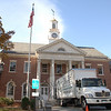 A Dupont Archives moving truck carried office contents from Edmond Town Hall on Friday, October 23.  (Bobowick photo)
