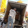 One piece at a time, rooms were dismantled and their contents loaded onto a moving truck positioned at the steps of Edmond Town Hall on October 23.  (Bobowick photo)
