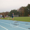 Newtown Middle School recently ran their annual mile exam on the track at Newtown High School.  (Hallabeck photo)