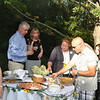 "Dozens of supporters gathered at the Main Street home of Shane and George Miller on Saturday, September 11, for ""Mozart, Merlot, and Mums,"" a special fundraiser for Kevin's Community Center. Mike Kerler of Sandy Hook Wine & Liquor provided the 55 wines sampled during the afternoon, through the generous donations of Opici Wine Company of Connecticut. Local restaurants and caterers provided finger foods for the event, and music by soprano Laura Heckmann of Brookfield, viola player Midhat Serbagi of Carmel, N.Y., Michael Conner on keyboard, Doug Wahlberg on guitar, and cellists Melissa Westgate and Gunnar Shalini of Ridgefield Symphony Orchestra added to the amicable afternoon's affair.  (Crevier photo)"