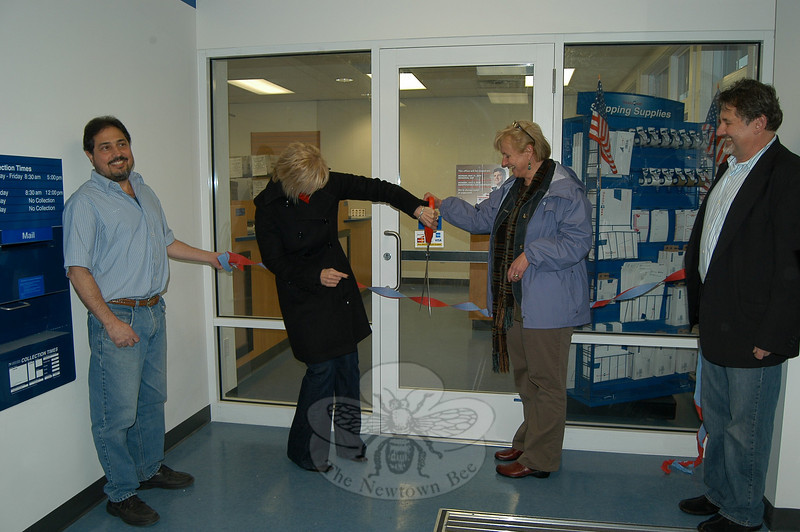 Hawleyville citizens celebrated the reopening of Hawleyville Post Office at its new Barnabas Road address in March, after a yearlong temporary closing.  (Crevier photo)