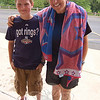Year In Review: Reed Intermediate School Principal Sharon Epple and student C.J. Herde stand together on June 10, after C.J. was the first to dunk Dr Epple in a water tank in celebration of students achieving their accelerated reader goals.  (Hallabeck photo)