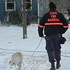 Because a person died as a result of the December 30 fire in Sandy Hook, state fire marshals were dispatched to 16 Philo Curtis Road. An accelerant-sniffing dog was also sent to the scene.  (Gorosko photo)