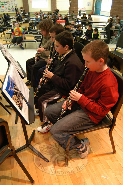 Reed Intermediate School sixth grade students rehearsed on Tuesday, January 4, for the band's upcoming winter concert.  (Hallabeck photo)