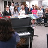 The Newtown High School Singers practiced after school on Monday, January 10, under the guidance of Newtown High School Choral Director Jane Matson for the group's upcoming Madrigal Feaste, scheduled for January 22.  (Hallabeck photo)