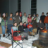 "NEWS (Newtown Ecumenical Workcamp Servants) members spent the night outside on Saturday, January 8, for the third annual Sleep-A-Thon to raise money for the group and raise awareness ""for people living in less than ideal conditions,"" as Newtown Congregational Church Reverend Matt Crebbin said of the event.  (Hallabeck photo)"