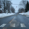 Main Street at 4:45 pm Wednesday, January 12, was devoid of traffic. (Hicks photo)
