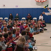 Educational Productions performer Jim Vagias gave a magic presentation at Hawley Elementary School on Monday, January 10, that also taught students character attributes associated with the Newtown Public School district's Core Character Attributes.  (Hallabeck photo)