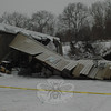 Botsford Fire Rescue responded to a partial building collapse at the BlueLinx industrial facility on February 1. While it appeared that some stored materials and at least one vehicle were damaged in the incident, no hazardous substances nor personnel were affected.  (Voket photo)