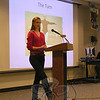Newtown High School student Lauren Harrison presented her Junior/Senior Project at the school on Monday, January 31. (Hallabeck photo)