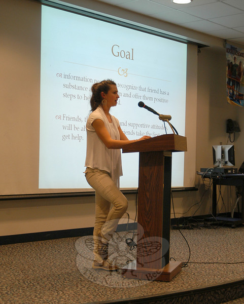 Newtown High School student Laurel Speed presented her Junior/Senior Project on Mon-day, January 31.  (Hallabeck photo)