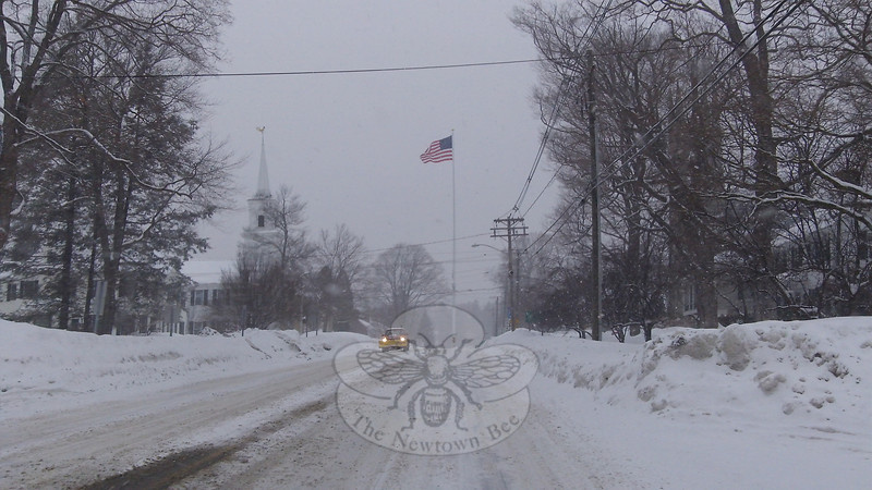 Seeing Main Street and other major roadways empty in the middle of the day, even in the middle of the week, is becoming a regular scene this winter. This was the view early Tues-day afternoon, when the latest storm kept most traffic off the roads.  (Voket photo)