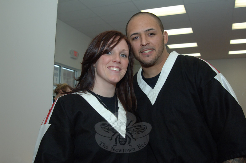Katlen and Victor Torres, during the grand opening celebration of Extreme Fitness & Martial Arts.  (Bobowick photo)