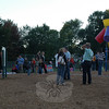 Hawley School parents, students and families ventured onto the school's playground after getting ice cream inside the school's gymnasium on Monday, September 20, during this year's PTA-sponsored Ice Cream Social. According to Hawley Principal Jo-Ann Peters, the event drew more than 600 people to the school for the evening event.  (Hallabeck photo)