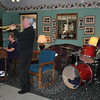 "From left, Ethel Kaufman on piano, Bucky Milam on trumpet, and Jeremy Alston on drums were at Newtown Senior Center on Tuesday, September 21, to present ""Music from the Heart,"" a medley of old-fashioned favorite tunes. Mr Milam, who has performed with notables such as the late Skitch Henderson, Glenn Miller, and Jimmy Dorsey, encouraged the audience to sing along during the program, leading off with ""Blue Skies"" by Irving Berlin.  (Crevier photo)"