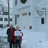"Newtown Woman's Club, GFWC, Inc is continuing its ""This Place Matters"" series, which will recognize and celebrate various historic buildings throughout Newtown, with a look at Newtown Meeting House. For the next few months, the club will continue to select a building the membership feels is an important part of this town. The club's February choice is Newtown Meeting House. Originally constructed as Newtown Congregational Church in 1808, the building replaced an earlier one that had been located in the middle of Main Street, and moved to its current site (in the middle of West Street) in 1792 to make room for Trinity Episcopal Church at 36 Main Street. The building was extensively rebuilt in 1845 and 1852. It was used for Congregational worship services and various town meetings until the mid-1980s, when NCC built its new church building on West Street and sold its former building to the Town of Newtown. The meeting house is now maintained by the nonprofit Heritage Preservation Trust of Newtown, Inc and used for nondenominational weddings, incidental worship services, funeral and memorial services, concerts, and other public programs. Newtown Meeting House is on the National Register of Historic Places. Woman's Club members JoAnn Bruno, left, and Wiedemann recently visited the landmark at 31 Main Street.  (Hicks photo)"