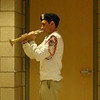 "Trumpeter Steven Behnke played ""Taps"" during the mural dedication ceremony. Mr Behnke is the founder and executive director of The Patriot Brass Ensemble, a separate musical group that supports The Patriot Guard.  (Hicks photo)"