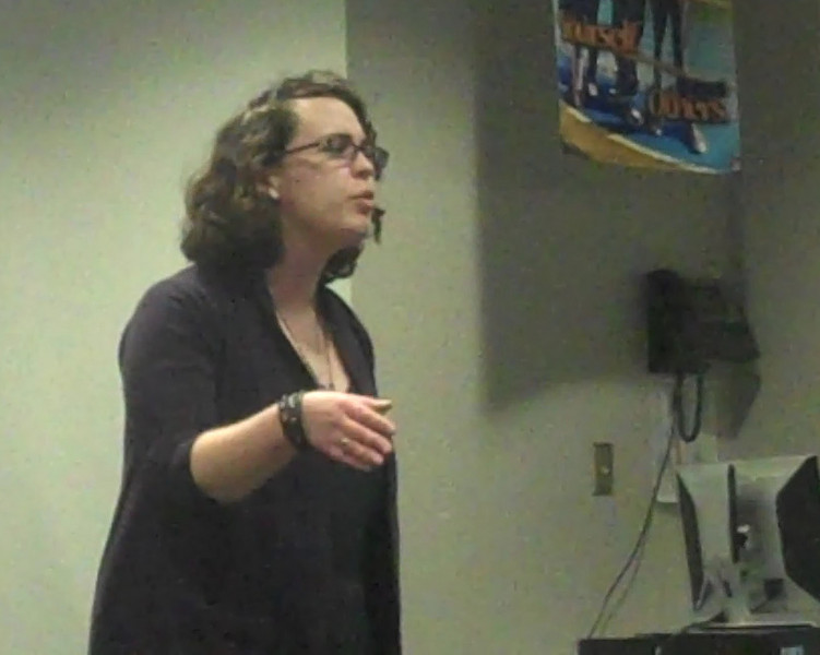 Maggie Kearney during the school's Poetry Out Loud competition final.  (Hallabeck photo)