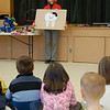 Randi Miller, a dental hygienist with dentist Denis Teeking from Pleasant Dental, spoke to students at the school on Thursday, February 10, about dental health and healthy food choices.  (Hallabeck photo)